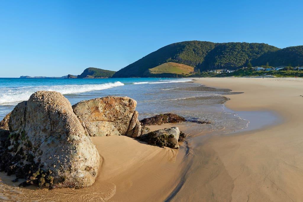 Just a short walk from Beautiful Blueys Beach