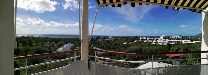 Vue panoramique bleu azur