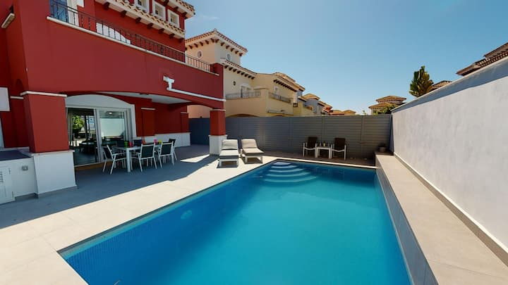Villa Gris,  on the  5* Mar Menor Golf Resort