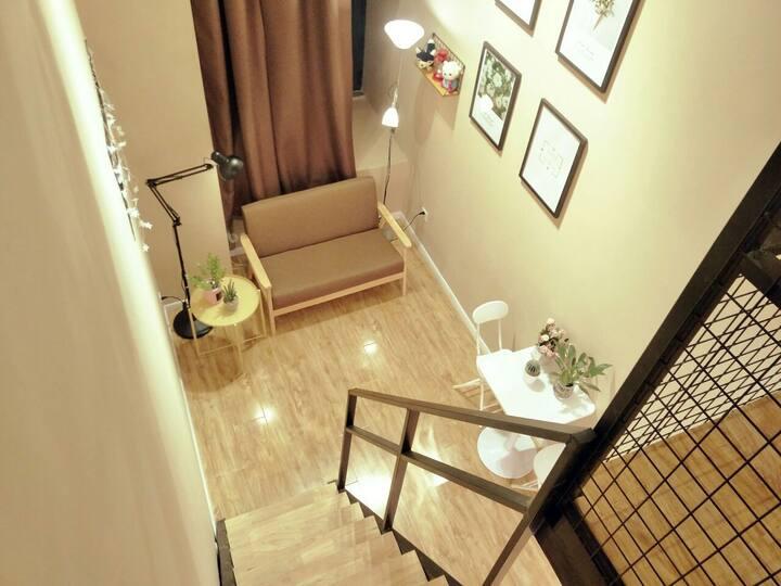 【明月公寓】C01地铁南京工业大学站,设计师经典复式可做饭