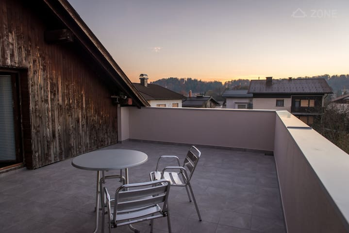 Spacious Attic Apartment With Big Terrace - Ljubljana - Apartment