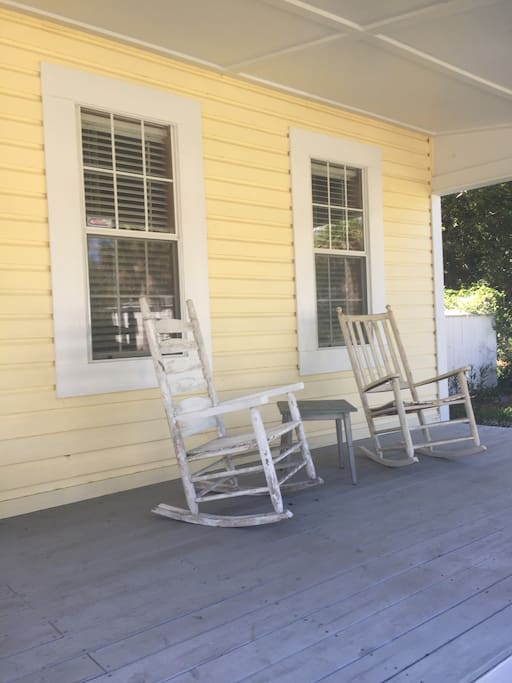 Everyone loves a front porch with rockers