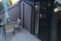 Back porch with seating for 10