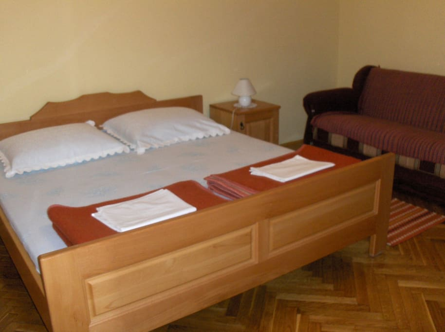 doublebedroom and sofa bed