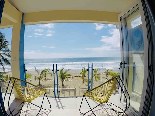 Beach front DUPLEX/LOFTS on the sand. Middle Jaco.