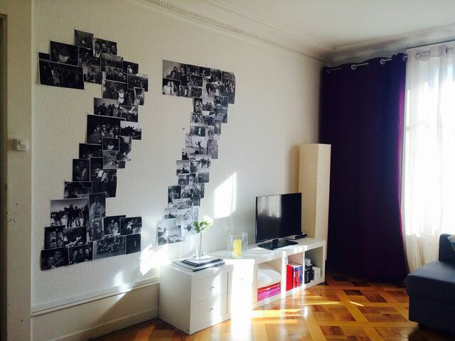 Downtown room with working place and balcony - Genève - Lejlighed
