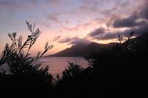 sunset behind the massif de l'esterel