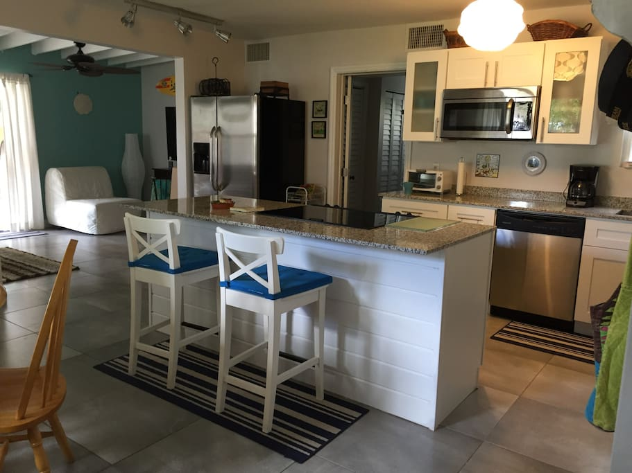 open kitchen concept to share with family and friend