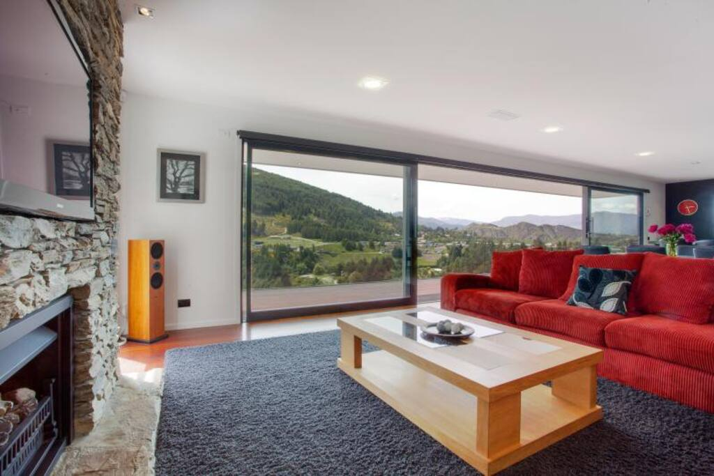 Relax with open mountain views