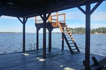 View of jumping platform from Boathouse