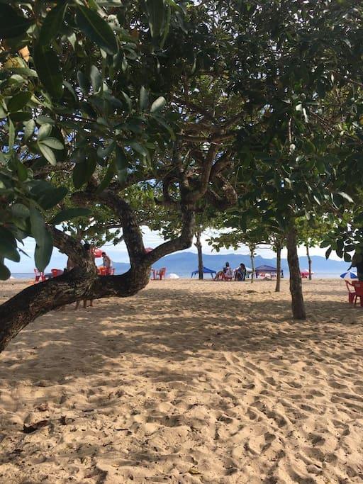 Praia em frente ao imóvel