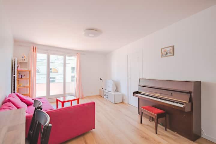 appartement spacieux 3 chambre avec vue sur Seine