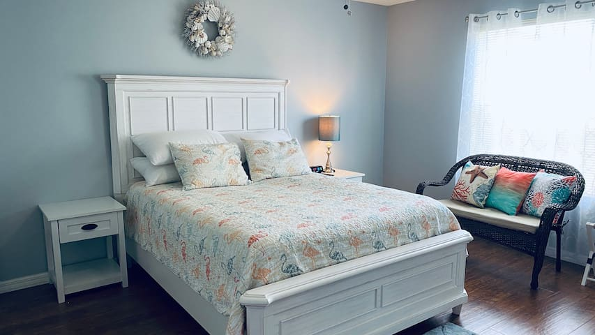 Queen Size bed in master.