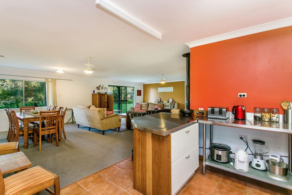 Kitchen, Dining and Lounge areas