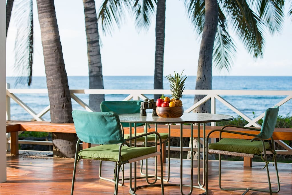 Private lanai with a view.