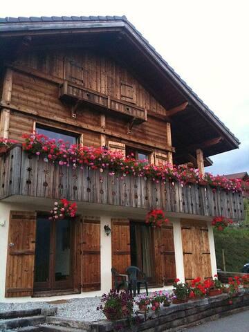A traditionally built 4 bed wooden chalet - Verchaix