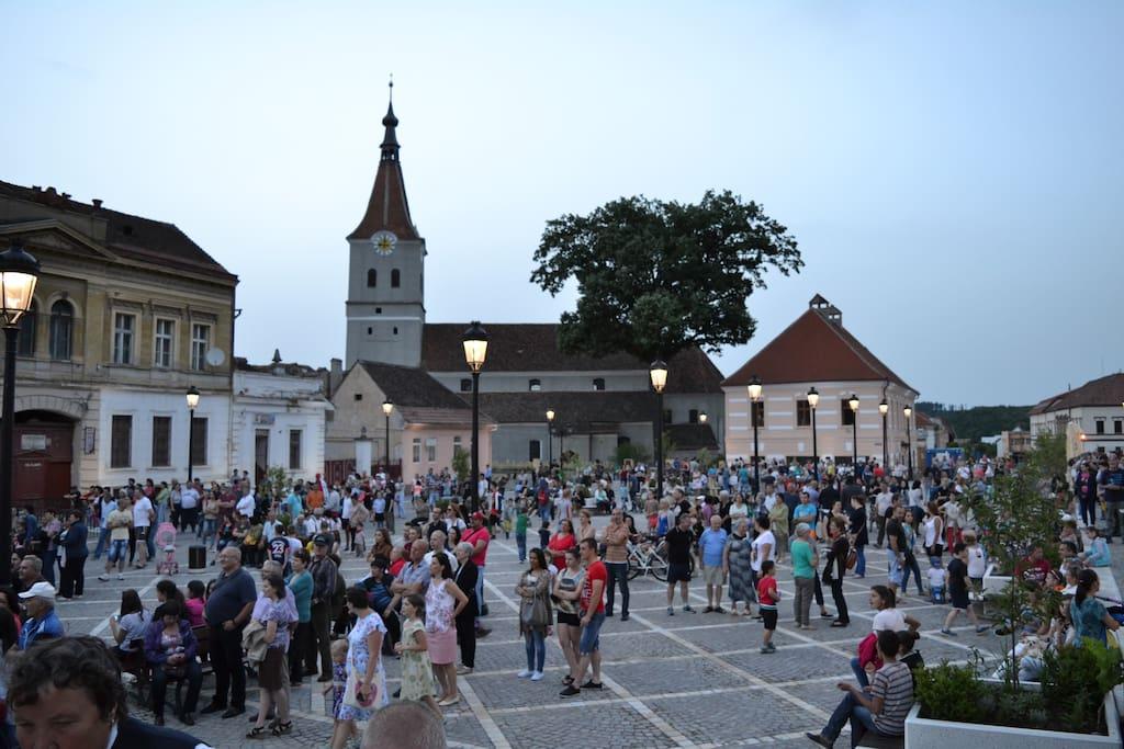 City center of Rasnov
