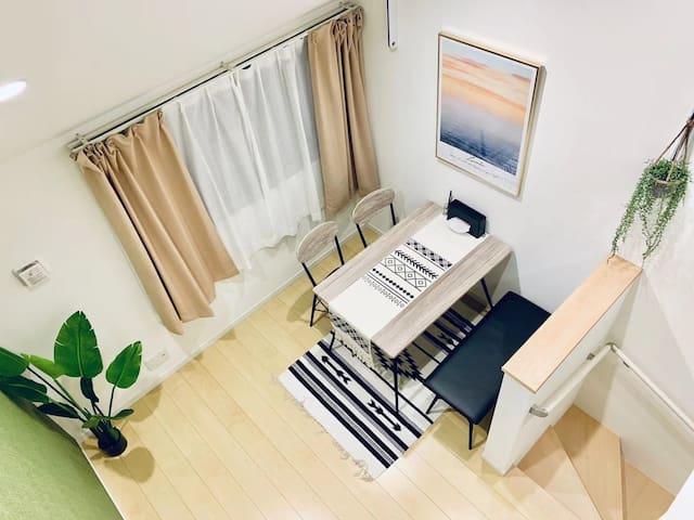R203+3Cozy home带阁楼,羽田可直达Skystree附近独立公寓。