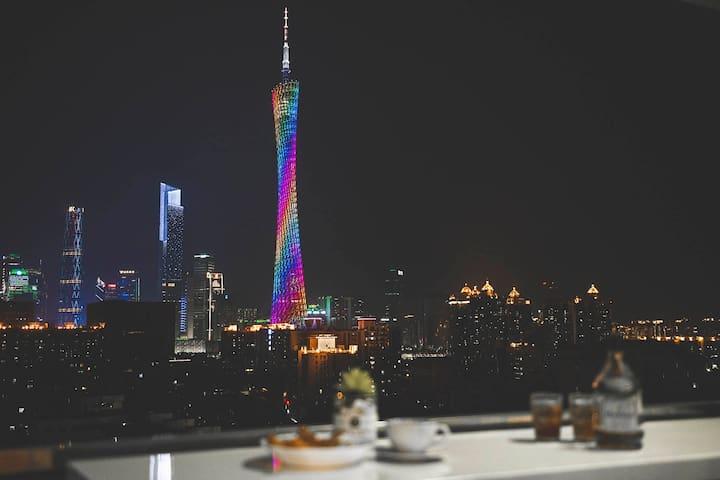 「独·占」ins无敌风景广州塔~超级大开间|客村地铁上盖|琶堤酒吧街|TIT创意园|海心沙|珠江新城