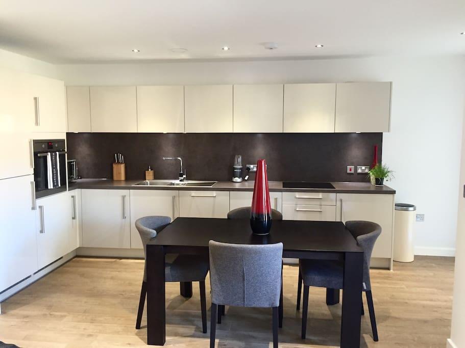 Large kitchen open plan!