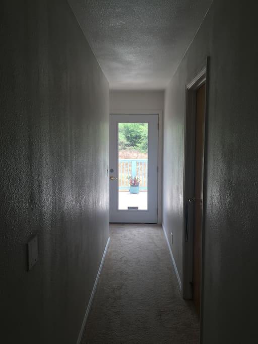 Hallway to balcony