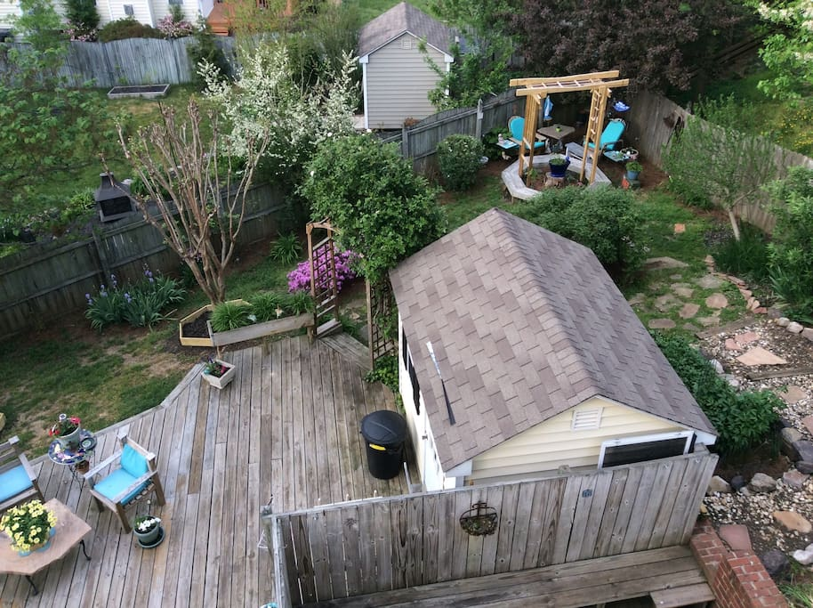 Multiple decks and gardens to soothe your soul.