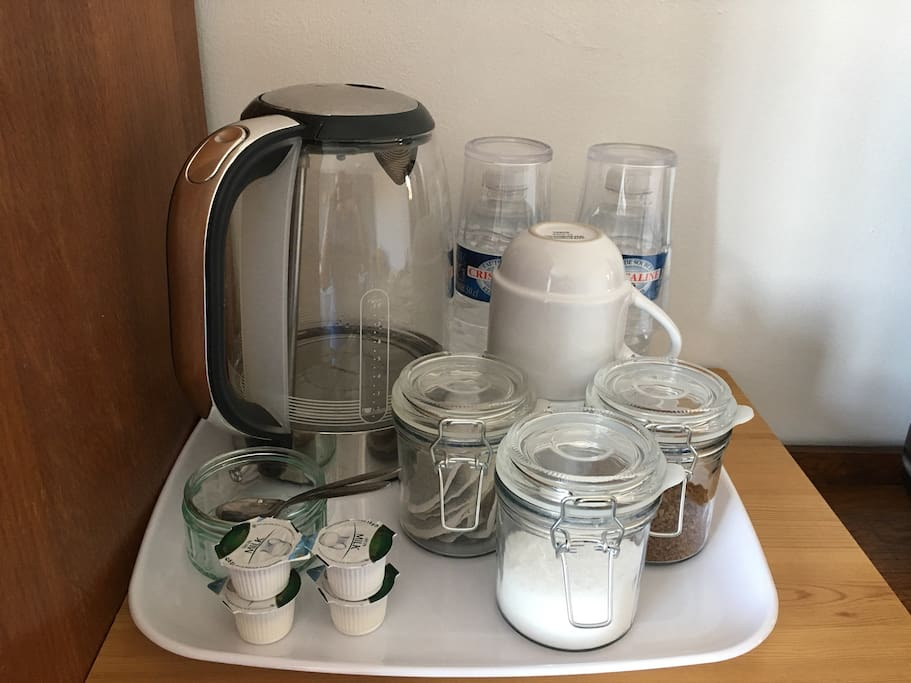Tea and coffee making facilities in the room