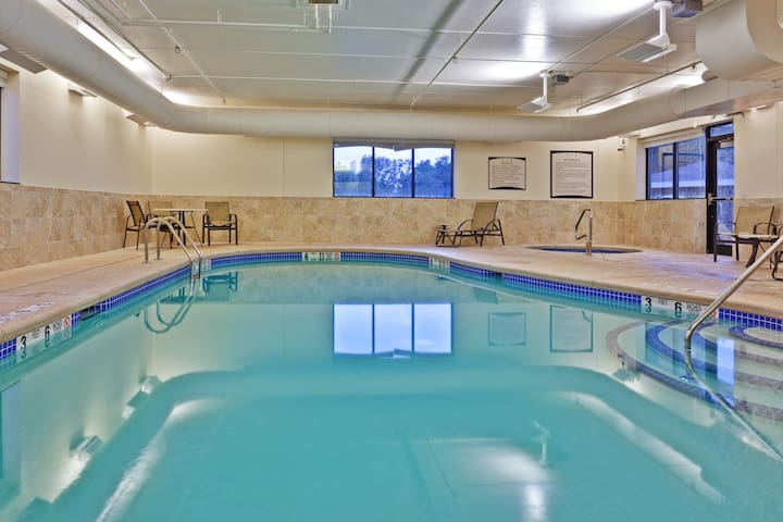 Suite Just 30 Miles from Niagara Falls | Indoor Pool, Shared Hot Tub + Gym
