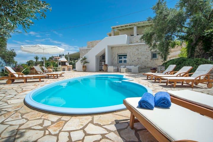 Private, Beachfront Villa with Pool - Gaios - Villa