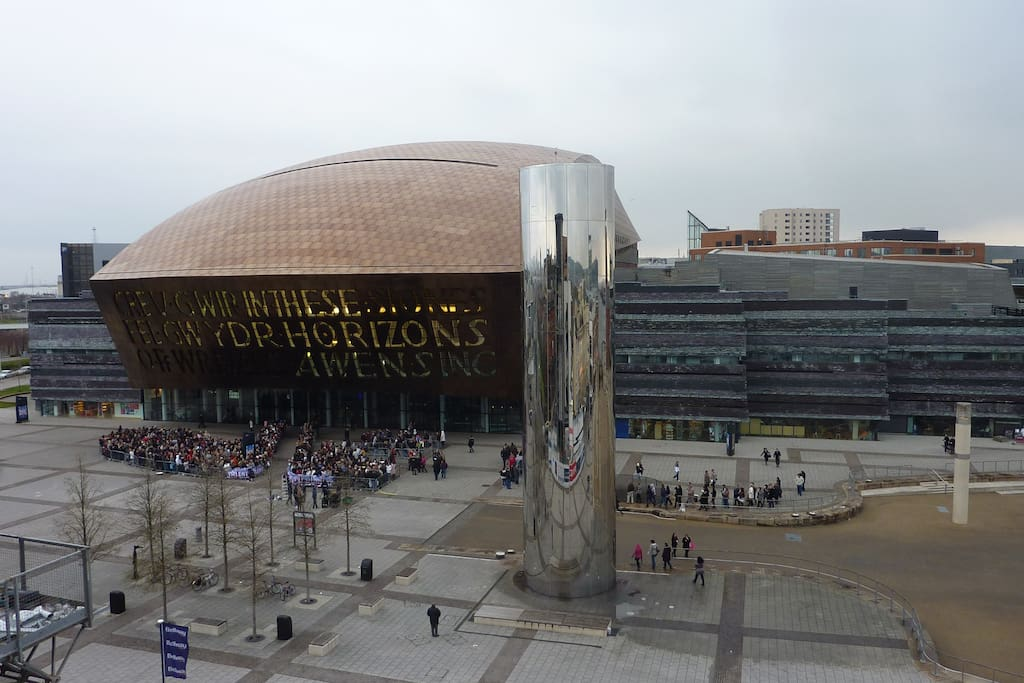 Milenium Centre from the East terrace