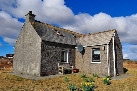 Traditional croft house, East Gerinish, South Uist