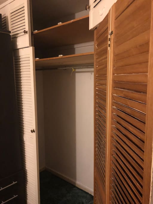 Built in closet in large double bedroom