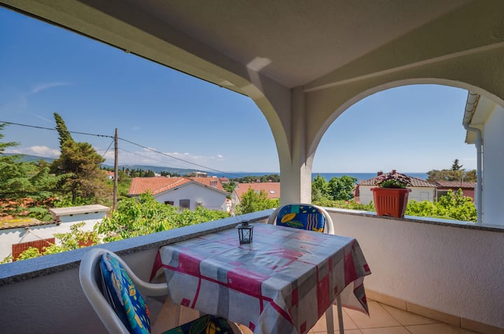 Studio Apartment, in Krk - island Krk, Terrace