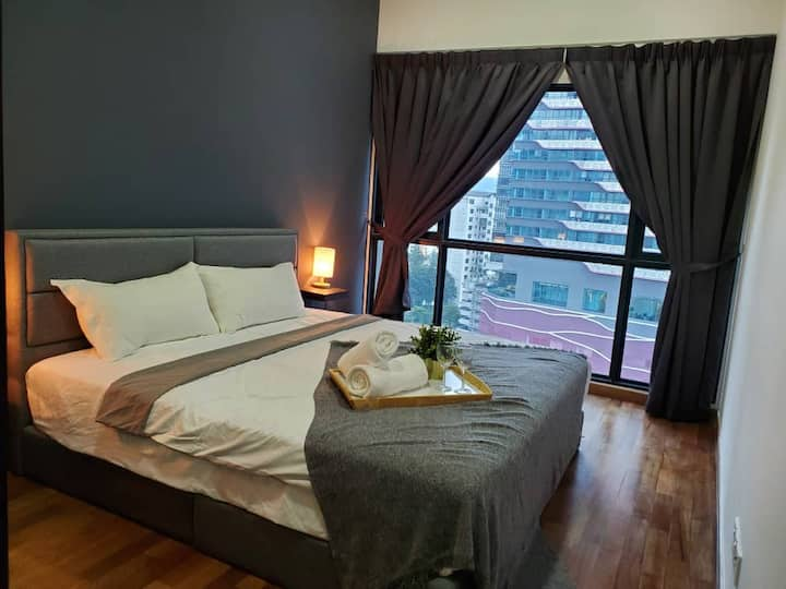 2-6 pax Cozy Suite 6 min to Great Eastern Mall