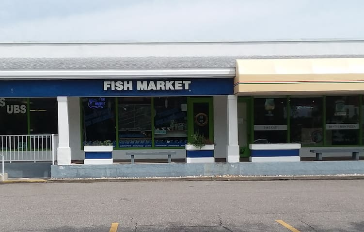 Get fresh fish right next door