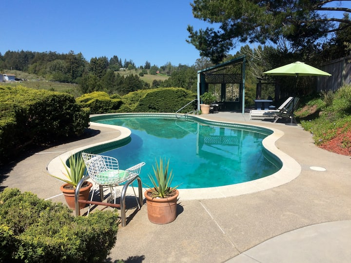 The Birdhouse. Western Sonoma. Pool, HotTub, Views