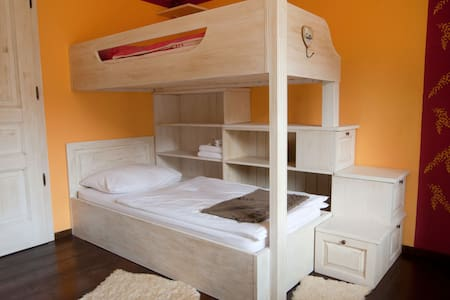 Sunny family room on the farm -B&B - Tabor - Bed & Breakfast
