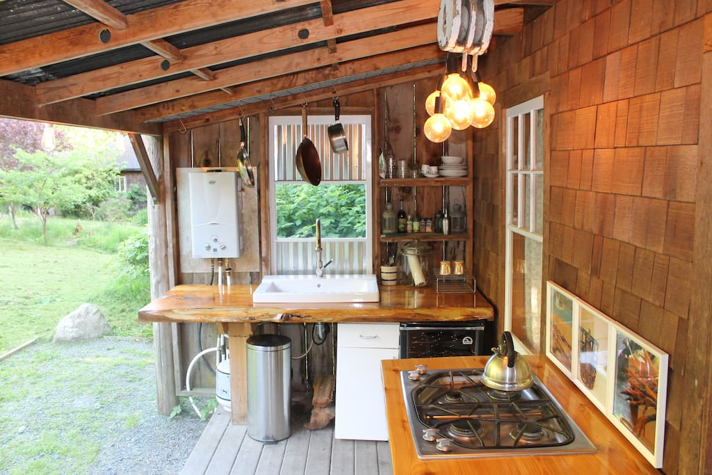 Covered Outdoor Patio Farm Kitchen