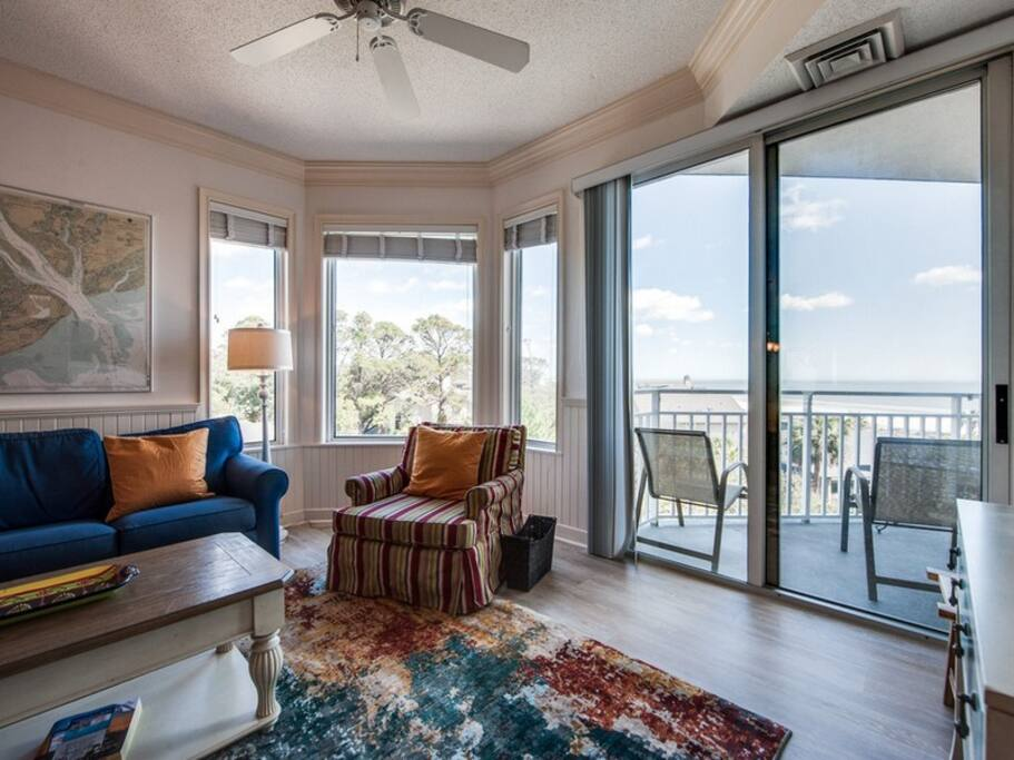 Private Balcony off Living Room with Ocean Views at 2413 SeaCrest