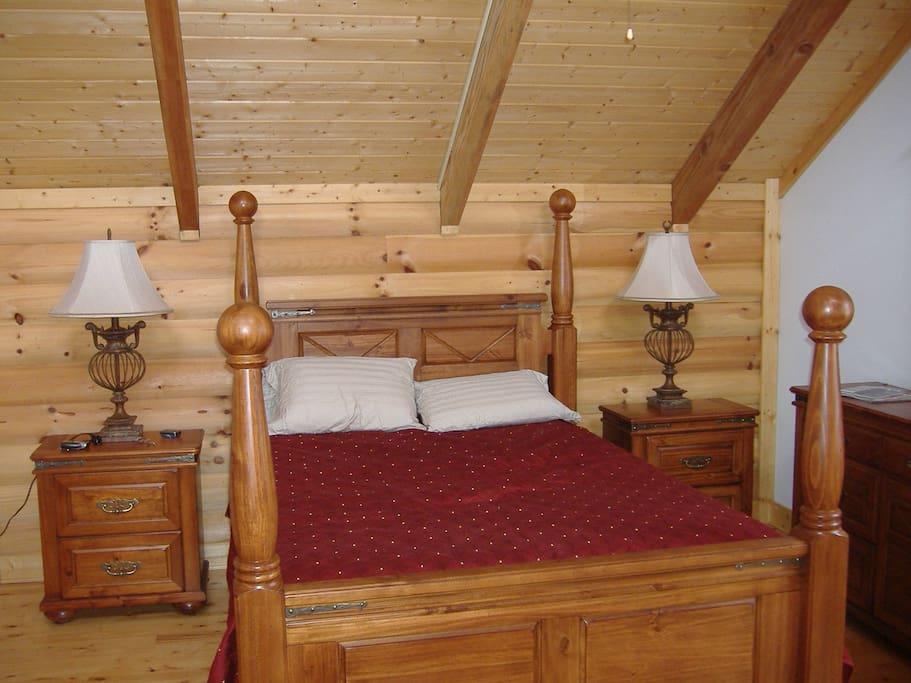 Bedroom 1 has a queen bed