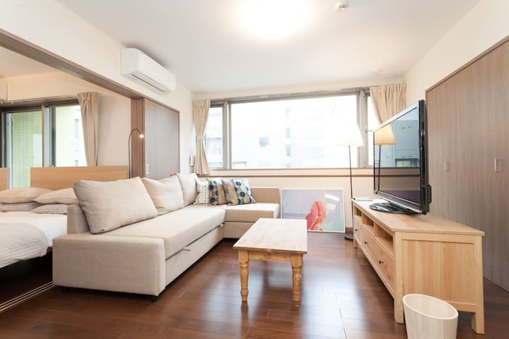 FREE WIFI + GINAZA/TSUKIJI/3BEDS/TV - Chūō-ku - Apartment