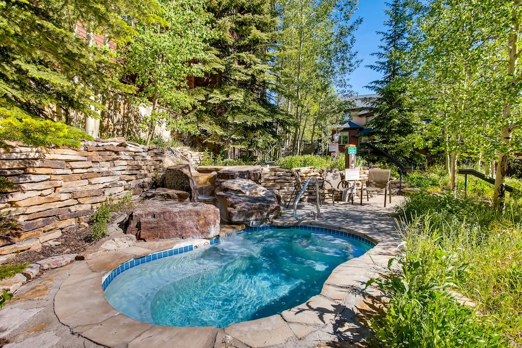 Outdoor Hot Tub with Waterfall
