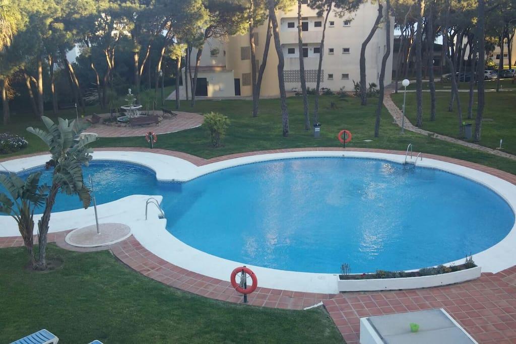 Swimming pool over the sea