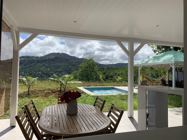 Chambre - Villa Piscine vue Montagne du Vauclin
