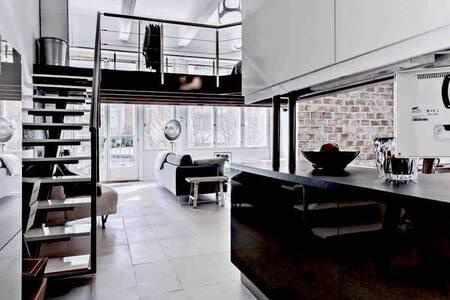 Moderni  Loftasunto saunalla Aurajoen vieressä