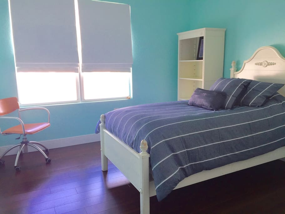 Second Bedroom is furnished with a twin bed with plenty of room for an air mattress (provided).