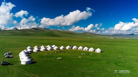 Nomad's Dream yurt camp in Son Kul