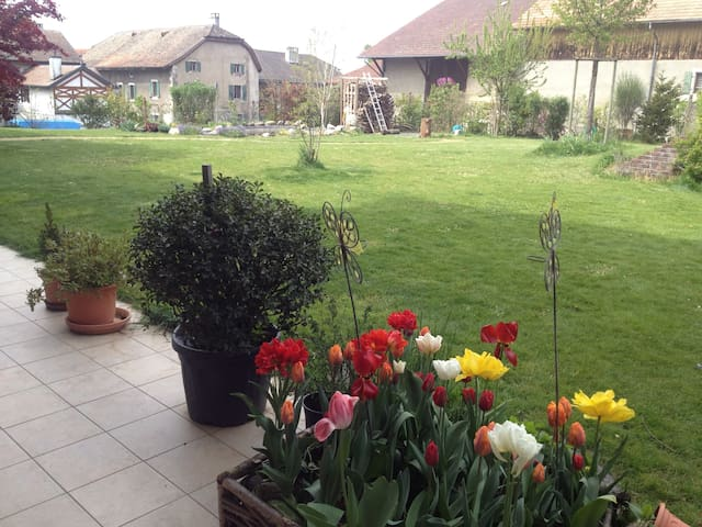 3 bedroom flat with large garden - Jussy - Leilighet