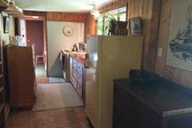 Kitchen though to bedroom
