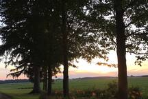 Country views and beautiful sunsets!